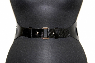 Женский черный ремень из натуральной кожи Sevaro Elit