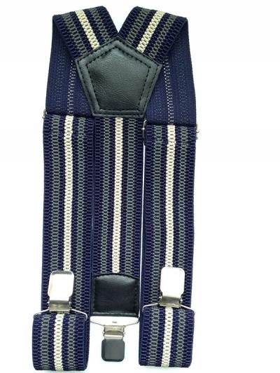 Текстильные подтяжки джинсовые, цвета мульти