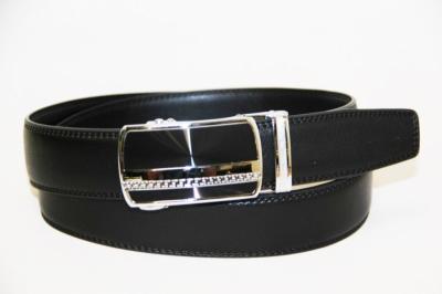 Ремень мужской брендовый черный с авт.пряжкой