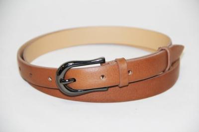Светло-коричневый женский кожаный ремень Donna Nonna
