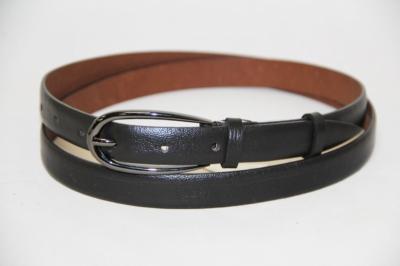 Темно-коричневый ремень из натуральной кожи Donna Nonna