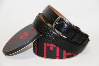 Мужской черный кожаный ремень Mario Pilli