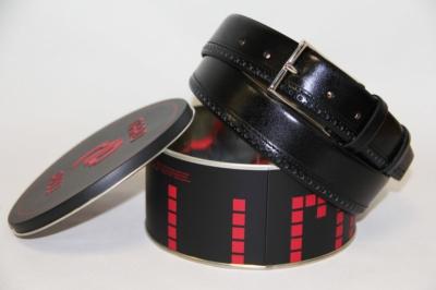 Мужской кожаный ремень черный Mario Pilli