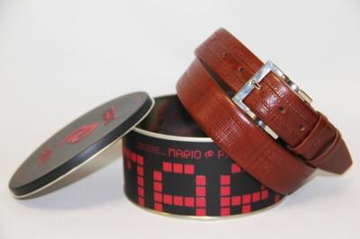 Мужской кожаный коричневый ремень Mario Pilli