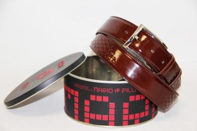 Мужской кожаный ремень Mario Pilli коричневый