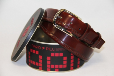 Ремень Mario Pilli из натуральной кожи мужской коричневый