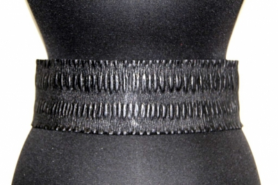 Ремень женский Sevaro Elit из натуральной кожи черный