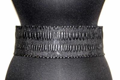 Женский ремень из натуральной кожи Sevaro Elit черный