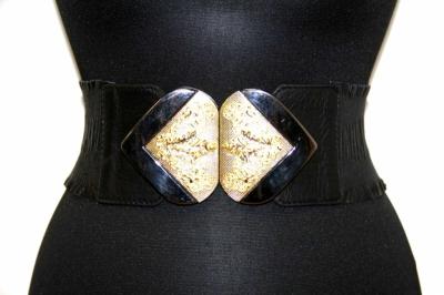 Ремень из натуральной кожи черный женский Sevaro Elit