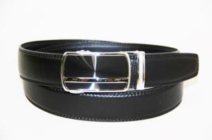Черный брендовый мужской ремень с авт.пряжкой