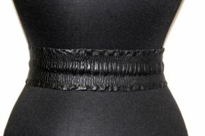 Черный ремень из натуральной кожи женский Sevaro Elit