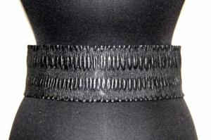 Ремень текстильный черный женский Sevaro Elit