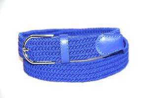 Эластичный мужской голубой ремень «Навигатор» из кожзама и текстиля